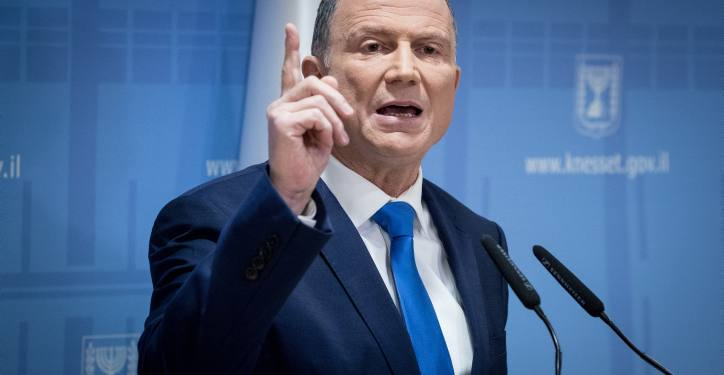 Speaker of the Israeli parliament Yuli Edelstein gives a press statement in the Knesset, the Israeli parliament in Jerusalem on January 12, 2019. Photo by Yonatan Sindel/Flash90 *** Local Caption *** ???? ???????? ???? ??? ????? ???? ?????? ????