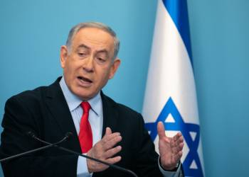 Israeli prime minister Benjamin Netanyahu holds a press conference at the Prime Ministers office in Jerusalem on March 12, 2020. Photo by Olivier Fitoussi/Flash90 *** Local Caption ***  ??? ?????? ?????? ?????? ?????? ?????
