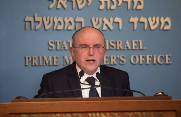 National Security Council Chairman, Meir Ben Shabat, speaks at a press conference announcing the new agreement for handling asylum seekers and illegal African migrants in Israel, at the Prime Minister's Office in Jerusalem, on April 2, 2018. Photo by Hadas Parush/Flash90 *** Local Caption *** ???? ???? ??? ?????? ?????? ?????? ??? ???? ???? ??????? ????? ???? ?? ??? ????? ?????? ??????? ????? ???? ???????? ?????? ???? ?????? ????? ????????
