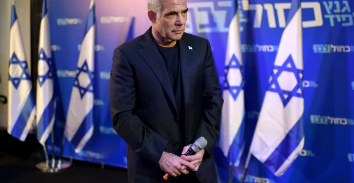 Yair Lapid, of Blue and White party, talks to supporters in an election campaign event in Herzliya on Sep. 04, 2019. Photo by Gili Yaari/FLASH90 *** Local Caption *** ???? ???? ????? ?? ???? ????? ???? ??? ?????? ?????? ?????? ????? ????? ?????? ??? ??????