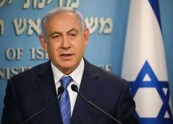 Israeli prime minister Benjamin Netanyahu speaks during a press conference about the coronavirus COVID-19, at the Prime Ministers office in Jerusalem on March 25, 2020. Photo by Olivier Fitoussi/Flash90 *** Local Caption *** ???? ??? ?????? ?????? ?????? ???? ????? ?? ??????? ?????? ????? ???? ???? ???????