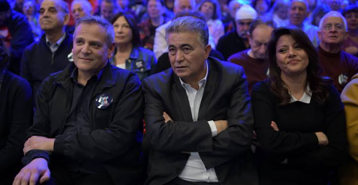Leaders of Labor-Gesher-Meretz Party attend the party's election campaign launch event in Tel-Aviv, Jan 29, 2020. Photo by Gili Yaari / Flash90 *** Local Caption *** ????? ??? ??? ?????? ??????-???-??? ???? ?????? ????? ????? ?????? ???? ?????? ???? ??? ????? ??? ?????? ???? ???????
