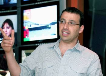 "Raviv Druker is a Political Analyst for channel 10, former head of political desk for Galatz radio station. Author of a book named ""Harakiri.Photo by Moshe Shai/Flash90 **Maariv and agencies out** *** Local Caption *** ???? ????? ??? ???? ???????"
