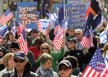 United Christians for Israel are seen in downtown Jerusalem during a March to support Israel on March 19, 2012. Photo by Nati Shohat Flash90. *** Local Caption *** ?????? ????? ?????, ???? ?????? ???? ?????