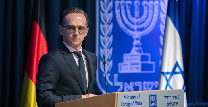 Minister Of Foreign Affairs Gabi Ashkenazi meets with German Foreign Minister Heiko Maas at the Ministry of Foreign Affairs in Jerusalem on June 10, 2020. Photo by Olivier Fitoussi/Flash90 *** Local Caption *** ?? ???? ?????? ????? ??? ?????? ???? ???? ?????? ?????