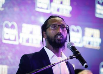 """Rabbi Baruch Gezahay, running for the Shas party at the opening of the party's campaign for the upcoming Israeli elections, in Jerusalem, February 02, 2020. Photo by Olivier Fitoussi/FLASH90 *** Local Caption ***  ?? ?""""? ????? ?????? ?????? ???? ?????"""