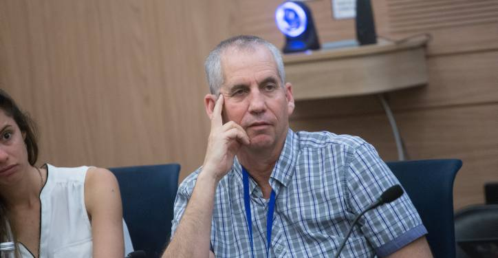 Dani Zamir, CEO of the National Council of Pre-Military Leadership Academies, attends a discussion at the Education committee in the Israeli parliament, on the topic of the ten Israeli teens who were killed when swept away in a flooding at the Tzafit Stream during a class trip near the Dead Sea, a few weeks ago. May 08, 2018. Photo by Miriam Alster/Flash 90 *** Local Caption *** ??? ???? ????