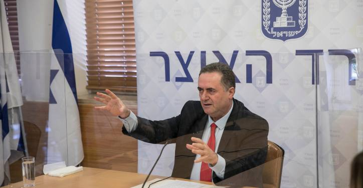 Israeli Minister of Finance Yisrael Katz holds a press conference at the Ministry of Finance in Jerusalem on July 01, 2020  Photo by Olivier Fitoussi/Flash90 *** Local Caption *** ???? ????? ?? ????? ????? ??