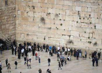 View of the Western Wall as it seen from a rooftop in Jerusalem Old City on March 12, 2019. Photo by Yonatan Sindel/Flash90 *** Local Caption *** ??? ????? ??????? ????? ???? ????? ?????? ???? ?????? ?? ????