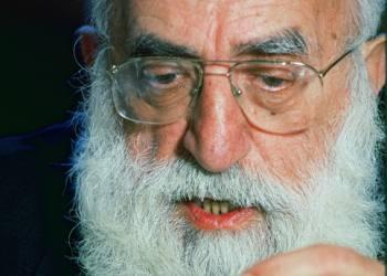 An Undated photo shows Portrait of Rabbi Shlomo Goren. Photo by Moshe Shai/Flash90 *** Local Caption *** ??? ???? ???? ??? ????? ?????