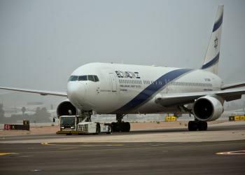 An ELAL flight seen taking off from Ben Gurion International Airport, on March 24, 2018. Photo by Moshe Shai/FLASH90  *** Local Caption *** àìòì àì òì çáøú úòåôä ùãä úòåôä îèåñ
