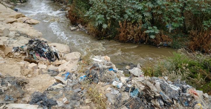 Garbage in the Judean desert on October 26, 2019. Photo by Sara Klatt/Flash90 *** Local Caption *** ??? ??? ????? ????? ???? ????? ???