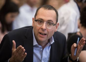Blue and White party member Tzvi Hauzer at the House Committee discussion to cancel the 2013 law limiting the number of ministers, at the Knesset, the Israeli parliament in Jerusalem, May 20, 2019. Photo by Hadas Parush/Flash90 *** Local Caption *** ??? ????? ???? ????? ?????? ???? ????? ??? ???? ????? ???? ????? ????? ?????
