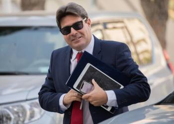 Israeli Minister of Science Ofir Akunis arrives at a Likud party meeting to vote on uniting with Minister Moshe Kahlon's Kulanu party, on May 28, 2019, in Jerusalem. Photo by Yonatan Sindel/Flash90 *** Local Caption *** ??????? ????? ??? ????? ????? ?????? ????? ????? ?????? ?????? ?????