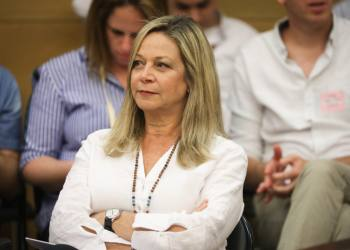 Blue and White parliament member Miki Haimovich attends an emergency conference on disasters at construction sites in Israeli, at the Knesset, on May 27, 2019. Photo by Noam Revkin Fenton/Flash90 *** Local Caption *** ???? ????? ???? ?????? ???? ???? ????????
