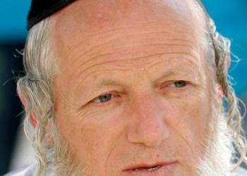 "A portrait of Yehuda Meshi Zahav, the founder of The Jerusalem Zaka organization during a arguing with  Students about  ultra-Orthodox  illegal protest against the opening of a central parking lot at Jerusalem city hall Safra square on the Jewish sabbath on June 12 2009. photo by Abir Sultan/Flash 90 *** Local Caption *** ????? ??? ??? ??""? ???????? ?????  ???? ???? ???? ?????"