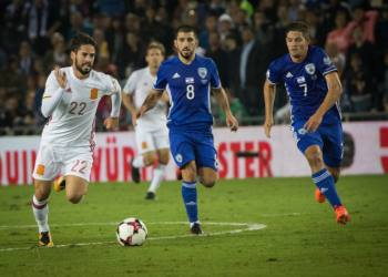 Isco of Spain in action during the Fifa World Cup 2018 qualification match between Israel and Spain at the Teddy Stadium in Jerusalem, on October 8, 2017. Photo by Yonatan Sindel/Flash90 *** Local Caption *** ?????? ??????? ??????? 2018 ????? ????? ??????? ????? ???? ???????? ??? ????