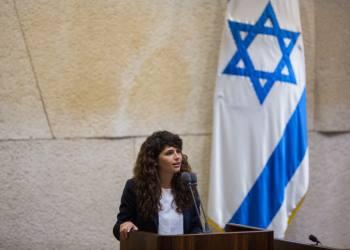 Likud parliament member Sharren Haskel speaks after being sworn in to the Israeli parliament, in the plenum hall of the Knesset, the Israeli parliament in Jerusalem on September 2, 2015. Photo by Yonatan Sindel/Flash90 *** Local Caption *** ??? ???? ???? ?''? ????? ????? ????? ???? ????????
