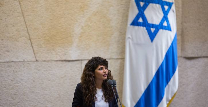 Likud parliament member Sharren Haskel speaks after being sworn in to the Israeli parliament, in the plenum hall of the Knesset, the Israeli parliament in Jerusalem on September 2, 2015. Photo by Yonatan Sindel/Flash90 *** Local Caption *** ??? ???? ???? ?''? ????? ????? ????? ???? ????????