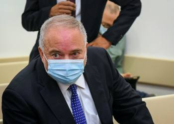 Yisrael Beytenu Chairman Avigdor Lieberman arrives for a court hearing on a lawsuit he filed against Israeli Journalist Yoav Yitzhak, at the Magistrate Court in Petah Tikva, November 24, 2020. Photo by Flash90 *** Local Caption *** ??? ???? ???? ???? ???? ??? ????? ????? ??????? ??????