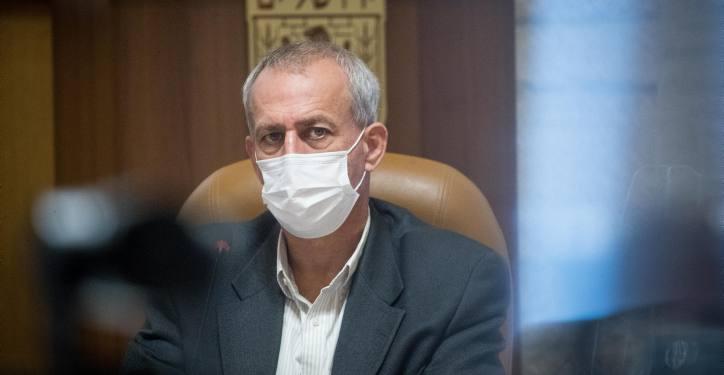 Israel's coronavirus czar Prof. Nachman Ash seen during a visit at the Jerusalem Municipality on November 22, 2020. Photo by Yonatan Sindel/Flash90 *** Local Caption ***  ?????? ????? ????? ?????? ??????? ????? ???? ???? ?????? ???? ?? ???????