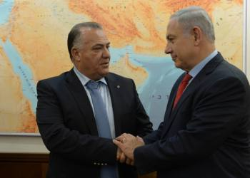Israeli prime minister Benjamin Netanyahu meets with mayor of the Northern Israeli city of Nazareth Ali Salam, in PM Netanyahu's office in Jerusalem on January 13, 2016. Photo by Haim Zach/GPO *** Local Caption *** ??? ?????? ?????? ?????? ???? ?? ??? ???? ???? ??? ???? ??????
