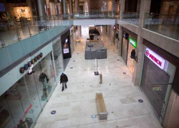 View of the closed down shops in the Givatayim Mall, on January 18, 2021, during a nationwide lockdown.  Photo by Miriam Alster/Flash90 *** Local Caption ***  ??? ?????? ????? ????? ??????? ???