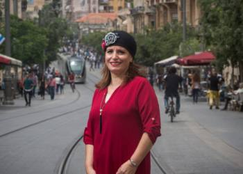 Portrait of Jerusalem Deputy Mayor Hagit Moshe, on Jaffo Street, downtown Jerusalem.  May 03, 2016. Photo by Miriam Alster/FLASH90 *** Local Caption *** ????? ??? ???? ??????? ???? ??? ??????