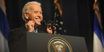 US Vice President Joe Biden gestures during a speech in Tel Aviv university on March 11, 2010. Photo by Gili Yaari / Flash 90 *** Local Caption *** ?'? ????? ??? ???? ????? ????? ?'??? ?????