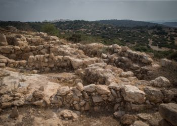 View of the archaeological site of Khirbet Qeiyafa near Beit Shemesh, Israel, August 29, 2016. Photo by Yonatan Sindel/Flash90 *** Local Caption *** ????? ??? ? ??? ? ???? ????? ????? ?????? ???? ? ??? ???? ?????????? ????????? ??????????? ??? ??? ?????? ??????  ??? ? ??? ????? ????? ?????????? ???? ? ??????