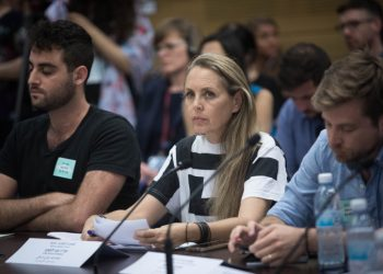 Leftwing and Palestinian rights Lawyer, Gabi Lasky, attends a special conference on children growing up under occupation, at the Knesset, the Israeli parliament on July 2, 2018. Photo by Hadas Parush/Flash90 *** Local Caption *** ???? ??? ??? ??? ???? ????? ??? ????? ???? ???? ???????? ?????? ????? ??? ??? ????