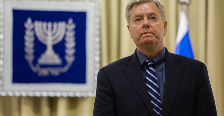 Republican US Senator Lindsey Graham seen at the president's residence in Jerusalem on January 4, 2014. Photo by Yonatan Sindel/Flash90  *** Local Caption *** ?????? ????? ????? ????????