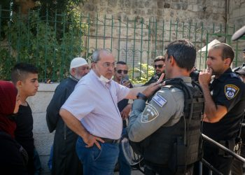 MK Ahmad Tibi seen outside the Temple Mount, also known as Haram al Sharif, in Jerusalem's Old City, July 18, 2021. Photo by Jamal Awad/Flash90 *** Local Caption *** ?? ???? ?? ???? ???? ???? ?????? ????? ?????? ????? ?????? ?????? ????? ???? ??? ???? ????