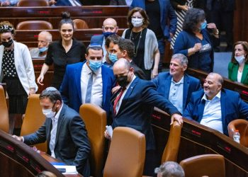 Israeli Prime Minister Naftali Bennett attends a plenum session in the assembly hall of the Israeli parliament, on July 12, 2021. Photo by Olivier Fitoussi/Flash90 *** Local Caption *** ????? ???? ????? ??? ??? ?????? ???? 40 ??????