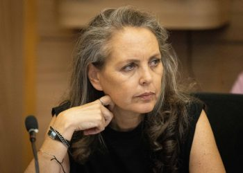 MK Gaby Lasky attends an Arrangements Committee meeting at the Knesset, the Israeli parliament in Jerusalem, on June 21, 2021. Photo by Yonatan Sindel/Flash90 *** Local Caption *** ???? ????? ?????? ????? ????? ???? ?????? ??? ????