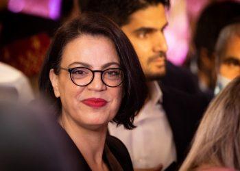 Likud member Galit Distel Etebaryan attends the Jewish Moroccan celebration of Mimouna, in Ma'ale Adumim, on April 3, 2021. Photo by Yonatan Sindel/Flash90 *** Local Caption *** ?????? ????? ?????? ???? ?????? ?????? ???? ????? ???????
