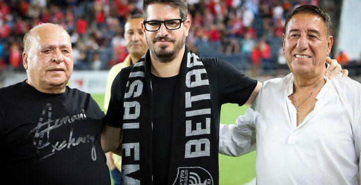 "Moshe Hogeg (C), Beitar Jerusalem owner seen during the Israeli Premier League match between Beitar Jerusalem and Hapoel Beer Sheba at the Teddy Stadium in Jerusalem on August 25, 2019. Photo by Flash90 *** Local Caption *** ???? ??????? ???""? ??????? ?????? ???? ???? ??? ????? ??? ???? ????????  ????? ????? ??? ??? ??? ??? ??????"