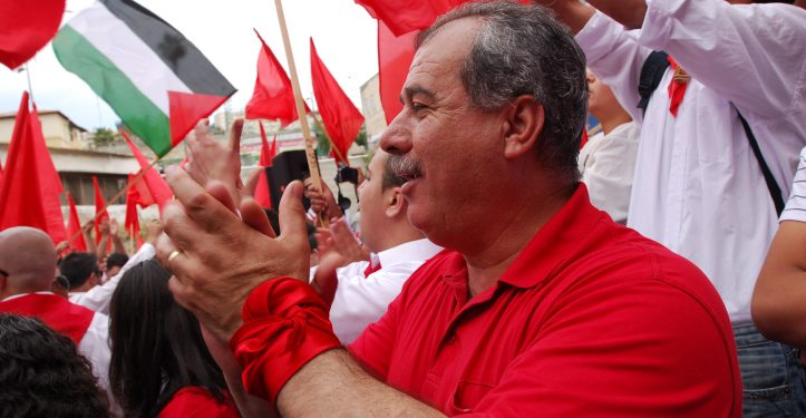 NAZARETH, ISRAEL - MAY 2, 2009: MK Mohammad Barakeh attending the May Day rally in Nazareth. Thousands of people members of the Israeli Communist Parties had a rally marking Labour Day (May day) in Nazareth. Photo by Gili Yaari / Flash 90. *** Local Caption *** ???? ???????? ????????? ????? ???? ??? ??????? ?????? ????? ???? ????