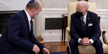 """US President Joe Biden meets with Israeli Prime Minister Naftali Bennett at the White House in Washington DC, USA, August 27, 2021. Photo by Avi Ohayon/GPO ***GPO HANDOUT, EDITORIAL USE ONLY/NO SALES*** *** Local Caption ***  ??? ?????? ????? ??? ?? ???? ???""""? ?'? ????? ???? ???? ????? ????? ??? ???"""