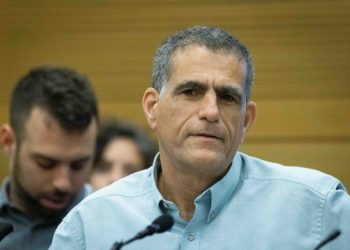 """Meretz parliament member Mossi Raz attends a lobby meeting entitled """"Between occuption and Apartheid"""" in the Israeli parliament on June 22, 2021. Photo by Yonatan Sindel/Flash90 *** Local Caption *** ???? ???? ????? ?? ????  ????? ???? ?? ???"""