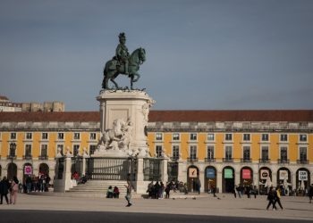 The statue of King John I in the Praça da Figueira, a large square in the city of Lisbon, Portugal, on December 1, 2018. Photo by Nati Shohat/Flash90 *** Local Caption *** ??????? ?????? ??? ????? ????