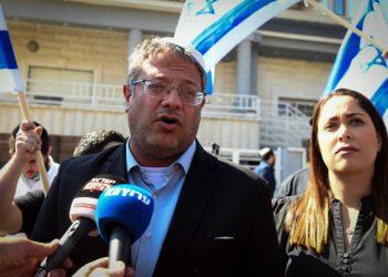 Right-wing politician Itamar Ben Gvir visits in Kfar Qasim, October 5, 2021. Photo by Yossi Zeliger/Flash90 *** Local Caption *** ??? ???? ????? ?????? ????? ????? ????????? ???? ????? ?? ????